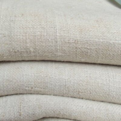 Antique French Linen Cloth Pure Handwoven 19th century chanvre hemp Fabric