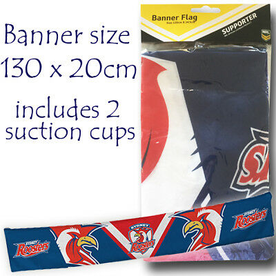 NRL Sydney Roosters Double Sided Party Banner Flag