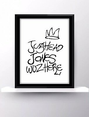 Riverdale Quotes Tv Show Poster Print Wall Decor Fan Gift Jughead Jones Was Here