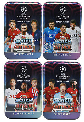 TOPPS - Champions League 18/19 2018 2019 - Trading Cards - Alle 4 Tins - Deutsch