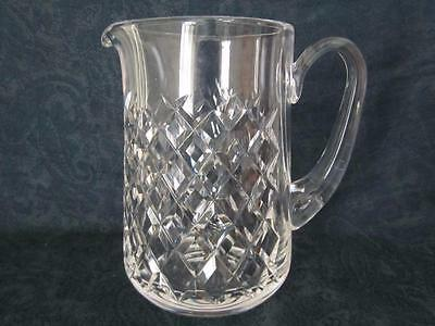 """Waterford Alana Pattern Cut Crystal Glass Jug / Pitcher ~ Height 6 & 1/2"""""""
