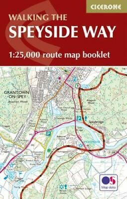 The Speyside Way Map Booklet 1:25,000 OS Route Mapping 9781852849382