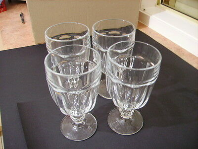 4 x Vintage Duratuff USA Footed Sundae Glasses