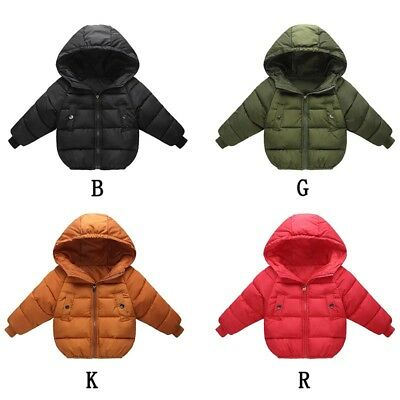Lots Toddler Baby Boy Girl Winter Warm Cotton Down Hooded Coat Jacket Outwear