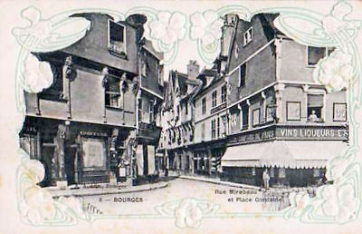 18 Cpa Gauffree Animee 1915- Bourges Rue Mirebeau Et Place Gordaine