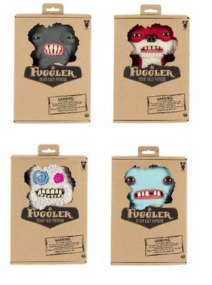 "Fuggler Funny Uggly Monsters 9"" Red/Grey/Blue/Dark Grey Soft Plush Toy"