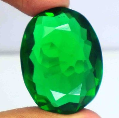 73.00Ct EGL Certified Lab-Created Green Moldavite Superior Oval Shape Gems BY103