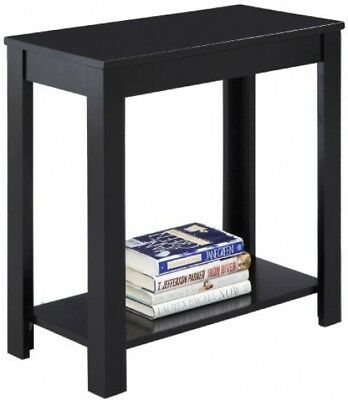 Side Table Black Console Entryway Front Hallway Sofa Narrow Small Slim Antiqued