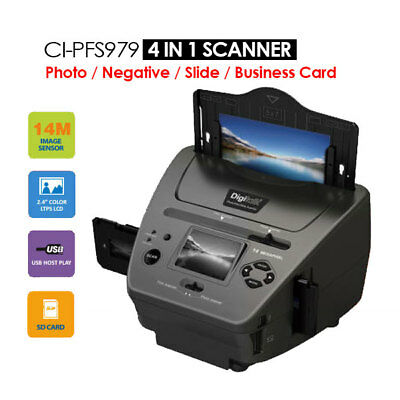 4-IN-1 Combo 14MP Photo/Film/Slide/Business card Scanner