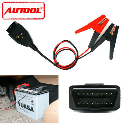 Autool BT-30 Car OBDII Memory Saver ECU Emergency Power Supply Battery Clip Tool