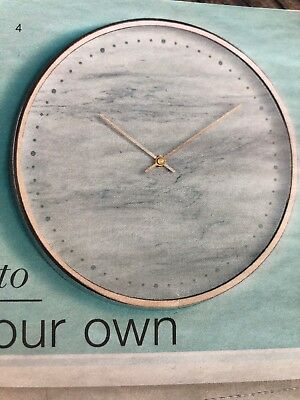 Rose Gold And Marble Clock