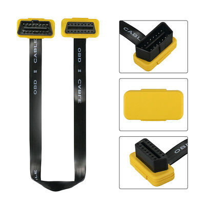 AUTOOL OBD2 Generic Flat+Thin 16Pin Extension Cable Connector 40CM Yellow