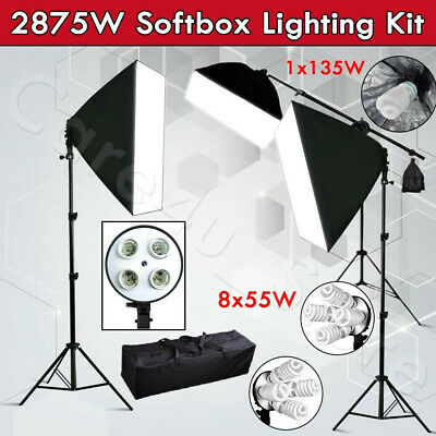 2425W Professional Photography Studio Softbox Continuous Lighting Boom Arm Stand