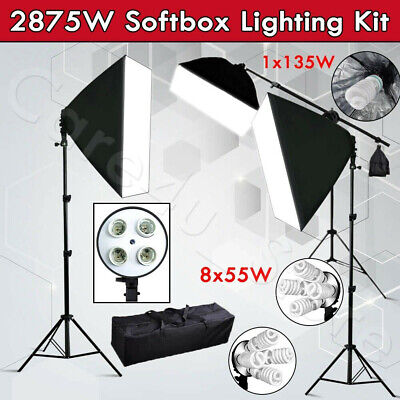 675W Professional Photography Studio Softbox Continuous Lighting Boom Arm Stand