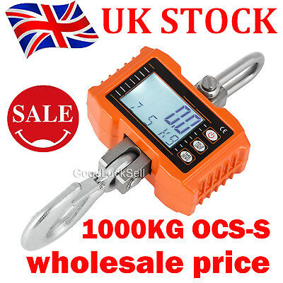 1000KG 1Ton 2000 LBS Digital Crane Scale Heavy Duty Hanging Scale Wholesales UK