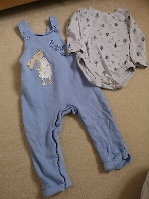 *** 12-18 Guess How Much I Love You Baby Boy Dungarees ***