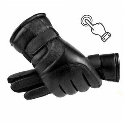 Man & Women Warm Skiing Gloves Windproof Touch Screen Leather Snow Waterproof