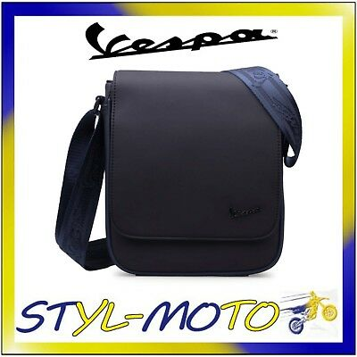 4d4167cbc5 V00067 Borsa Borsello Tracolla Vespa Originale 2018 Smart Nero In Pvc