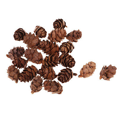50x Mini Decorative Pine Cones for Home Party Christmas Ornament Decoration