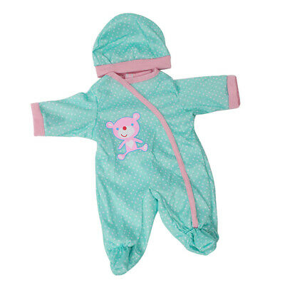 Lovely Dot Rompers Hat Suit For Reborn Newborn Doll Baby Sleeping Clothes