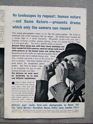 Daily Mirror Flyer For Submitting Photographs For Publication 1935