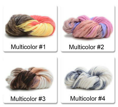 Hot Sale Hand-woven Rainbow Knitting Scores Wool Yarn Sweater Soft 18Colors 250g