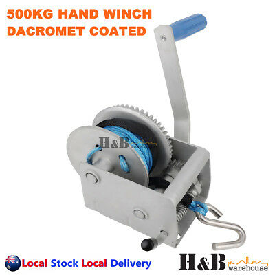 500KG 3:1 Hand Winch Dyneema Rope 5mm X 8M Winch Rope Marine Boat Trailer Sale