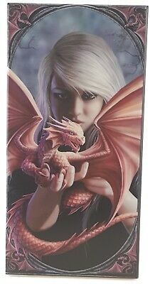 Anne Stokes DRAGONKIN Designer Decorative Art Tile Fantasy Mythical DRAGON MAGE
