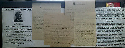 1880s FINDLAY OHIO NATURAL GAS & OIL WELL BOOM AUTOGRAPH LETTER SIGNED ARCHIVE!