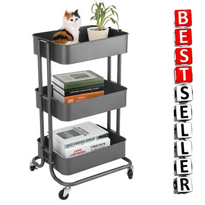 Office Trolley Cart Intended Tier Storage Trolley Cart Kitchen Office Rolling Rack Uk Tier Storage