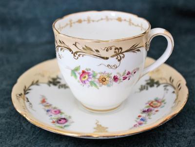 RARE ANTIQUE JOHN ROSE & Co ~ COALPORT CUP & SAUCER ~ ENGLISH PORCELAIN