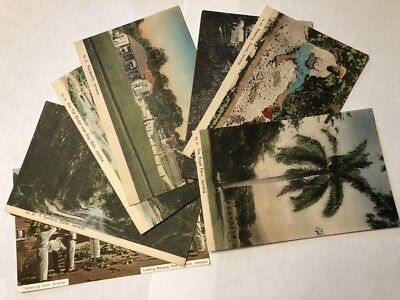 Lot of 7 Vintage Postcards of Jamaica, early 1900s--landscape, people, buildings