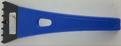 "Blue Ice Scraper Heavy Duty Design 10"" Long Mallory Plastic"