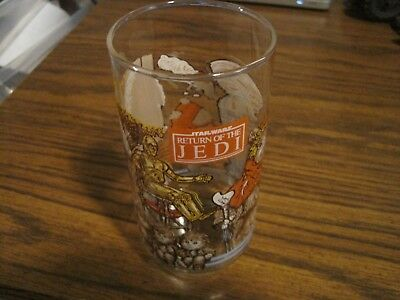 Vintage 1983 Star Wars  Return Of The Jedi Burger King Coca-Cola Glass!  C3Po