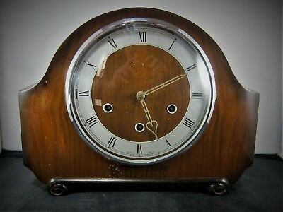 Vintage Wood Cased Smiths Westminster Chimes Mantel Clock