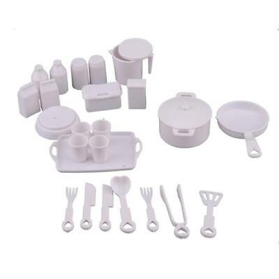 25Pcs Kids Pretend Plastic Afternoon Tea Set Toy Kitchen Role Play Toys Gift 6A