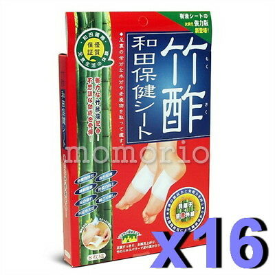 Japan Waton Bamboo Vinegar Palm/Arm/Back/Sole Foot waste Detox Patches-128Pack