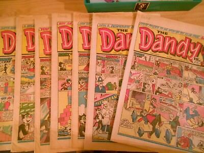 7 Dandy Comics   1983 And 1984 Vintage.