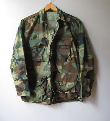 Vintage Army Surplus Camo Jacket Shirt Camouflage US Military S Green Small 7183ecb9fed6