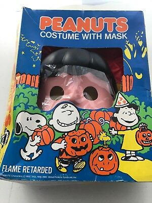 Vintage Child's  Peanuts Halloween Costume:-Lucy In Box