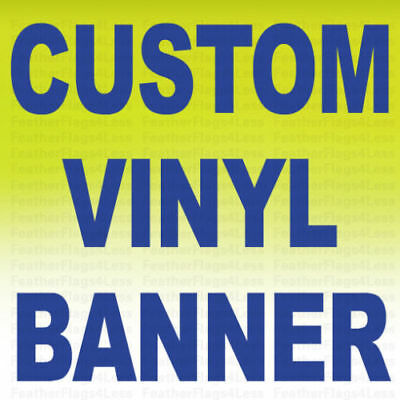 Custom Vinyl Banner 13 oz Full Color Sign Printing 2X4 ft