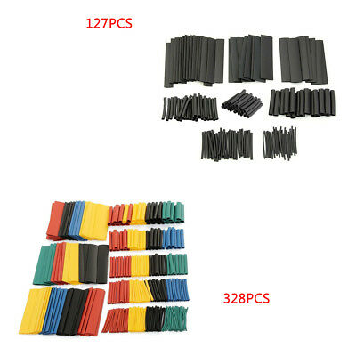 127/328PCS Polyolefin Heat Shrink Sleeve Wrap Wire Assortment 7/8 Size 2:1 AHS