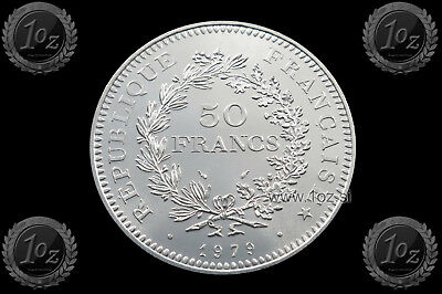 FRANCE 50 FRANCS 1979 ( HERCULES GROUP ) SILVER Common Coin (KM# 941) aUNC