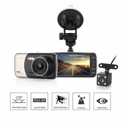 Uber Dash Cam Dual Lens 1080p HD 170 Degrees Wide Angle Video Recorder Vision US