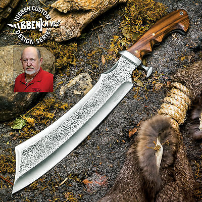 "17"" Gil Hibben Full Tang Machete Fixed Blade Cleaver Knife Hunting Survival Wood"