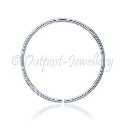 Thin Pretty Real 925 Sterling Silver Nose Ring Split ring Tragus Helix for Nose