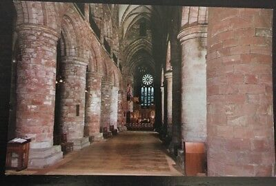 OLD POSTCARD - ST MAGNUS CATHEDRAL, KIRKWALL, ORKNEY, SCOTLAND - The Nave