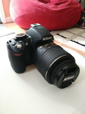 Nikon D D3100 14.2MP Digital SLR Camera - Black (Kit w/ AF-S G DX VR 18-55mm and