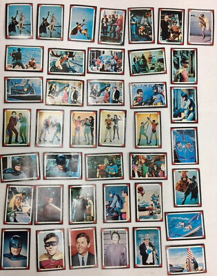 Vintage 40 1966 Batman Movie TV Series Decoder Cards National Periodical