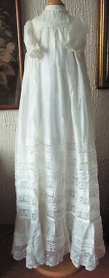 Lace/silk Baby Vintage Christening Gown